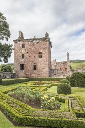 Edzell Castle ruins at Edzell in Scotland. Editorial
