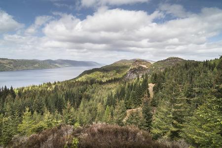 loch ness: Loch Ness view from Farigaig in Scotland.