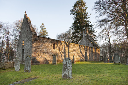 St Marys Kirk ruin near Rhynie in Aberdeenshire, Scotland.