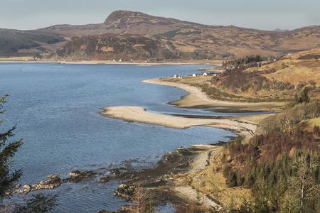 Glenelg coastline at  Skye and Lochalsh in Scotland.. Stock Photo