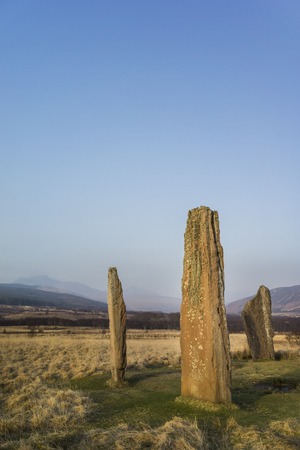 Machrie Moor stone circles on the Isle of Arran in Scotland.