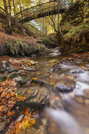 Falls of Tarnash at Dunnyduff in Keith, Scotland. Stock Photo