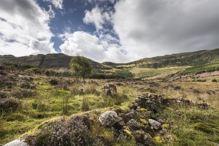 View over Aoineadh Mor Clearances in Ardnamurchan, Scotland.