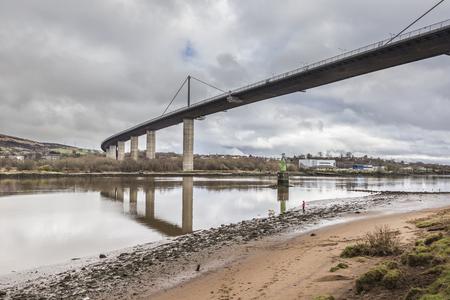 Erskine Bridge over the River Clyde in Scotland.