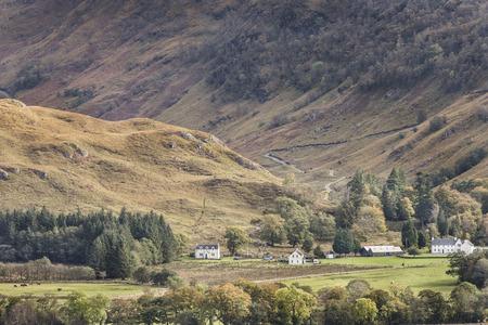 View over Glen Ure in West Argyll, Scotland.