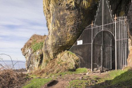 Kings Cave at Machrie on the Isle of Arran in Scotland.  ( Robert the Bruce)