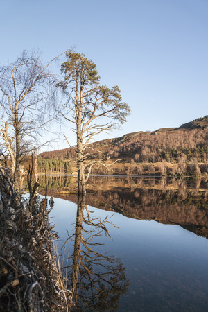 strathspey: Loch Pityoulish in the Cairngorms National Park of Scotland.