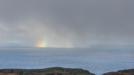 Mull: Rainbow on the Sound of Mull from the Isle of Mull in Scotland.