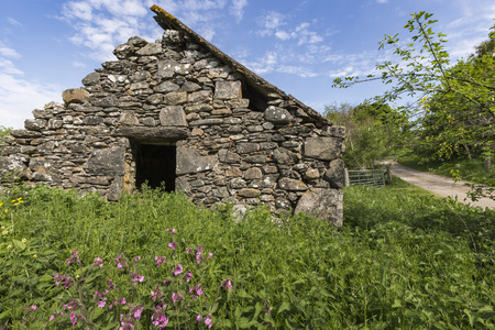 forge: Historic Old forge at Cabrach in Scotland.