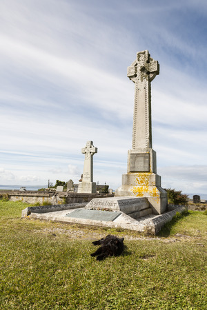 Historic grave of Flora Macdonald on the Isle of Skye in Scotland.