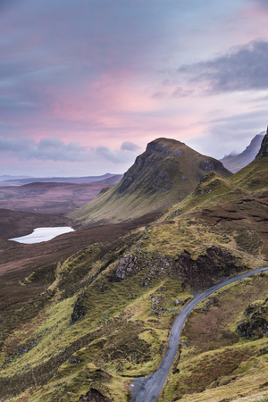 The Quiraing on the Trotternish near Staffin on the Isle of Skye in Scotland.