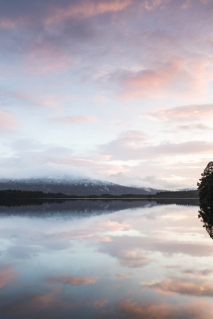 garten: Loch Garten and evening cloud in the Cairngorms National Park of Scotland.