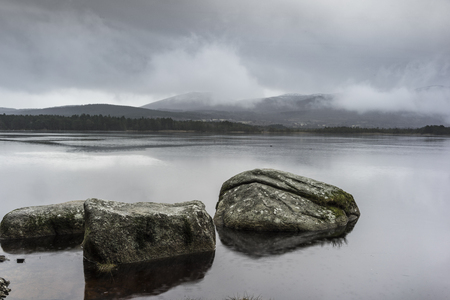 garten: Loch Garten in the Cairngorms National Park of Scotland.