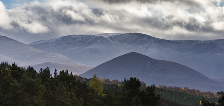 Cairngorms and Carn Eilrig in the Highlands of Scotland.