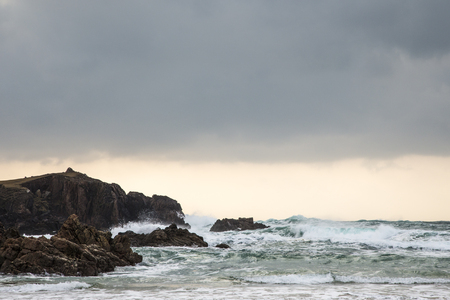 Atlantic waves at Mangursta beach on the Isle of Lewis in the Outer Hebrides.