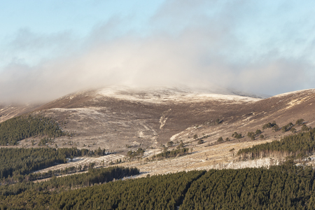 View over the Meal a Bhuachaille  in the Cairngorms National Park of Scotland.