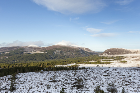 View over the Sugarbowl in the Cairngorms National Park of Scotland.