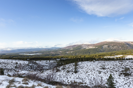View over Glen More in the Cairngorms National Park of Scotland.