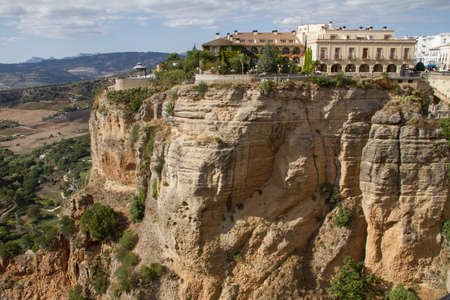 tagus: Parador of Ronda, Spain, overlooking the Tagus River ravine