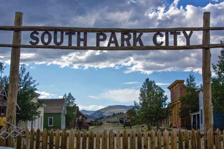 south park: South Park City, Colorado, welcome sign to ghost town of the Old West