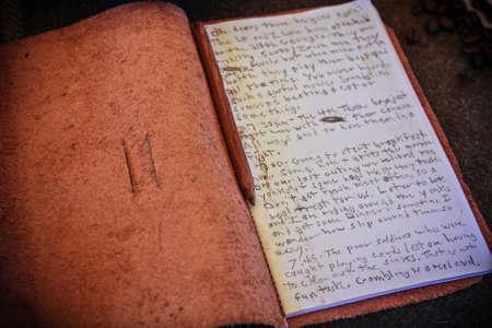 memorabilia: Civil War journal from memorabilia collection at Four Mile Park, Colorado, 4th of July  celebration Editorial