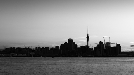 Auckland city in Film Noir style