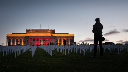 100th Anniversary of Armistice Day in Auckland War Memorial Museum Stock Photo
