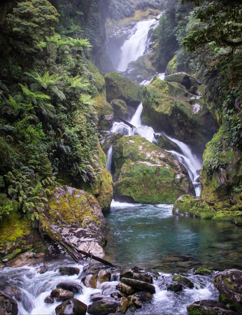 Mackay falls is reachable on the 4th day of Milford Track trek