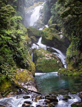 Beautiful Mackay falls is reachable on the 4th day of Milford Track trek