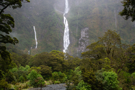 Sutherland Falls near Milford Sound on the Milford Track