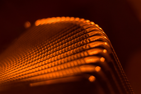 Piano Accordion close-up photo by candlelight