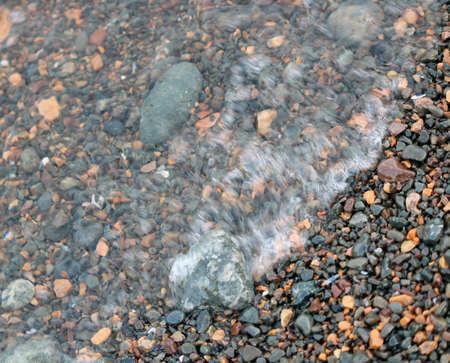 Waves on the Beach Rocks