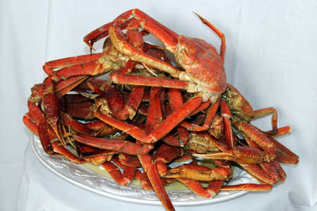 A pile of steamed crab Stock Photo