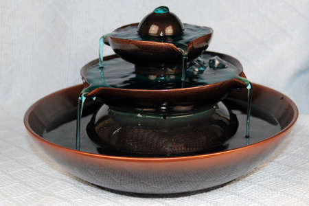 indoors: Small decorative indoor fountain