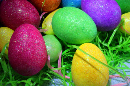 sparkly: colorful sparkly Easter eggs