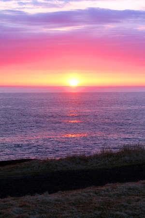 atlantic: Spring sunrise over the Atlantic Ocean