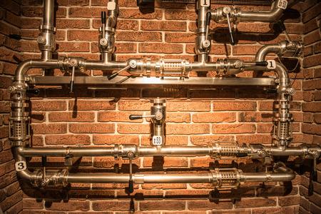 steam turbine: industrial pipelines on food plants