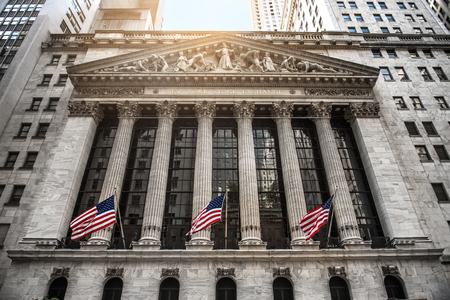 stock exchange: NEW YORK CITY - August 20: The New york Stock Exchange August 20, 2015 in New York, NY. It is the largest stock exchange in the world by market capitalization. Editorial