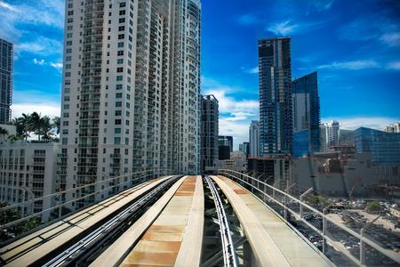 new building: Miami downtown city metro bus road