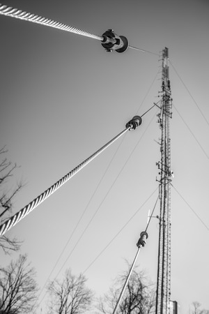 heights job: supporting cables of communication radio tower