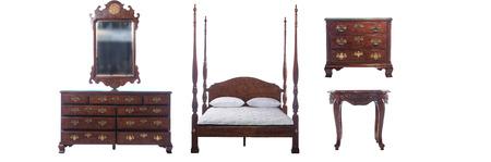 bedroom furniture: Bedroom furniture set isolated on white background