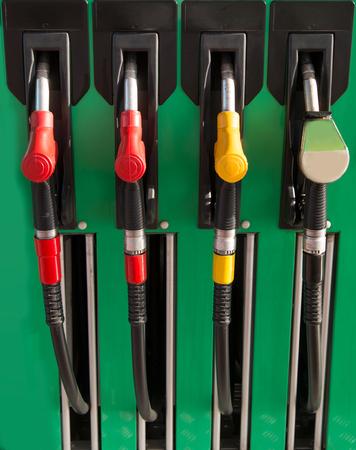 opec: petrol station nozzles Stock Photo