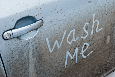 Concept Photo Of Car Wash Wash Me Stock Photo Picture And