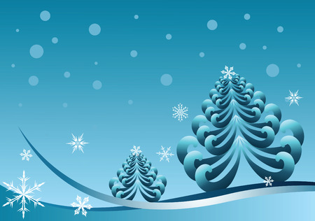 seasonable: abstract christmas winter vector illustration