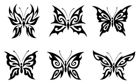 butterfly vector set Illustration