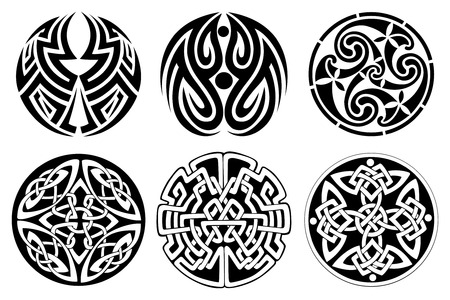 6 different vector celtic ornament set