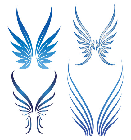 tattoo wings: vector wings set