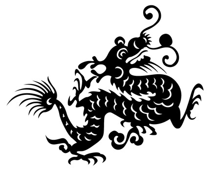 dragon vector chinese traditional design Illustration