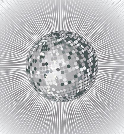 silver vector disco ball Illustration
