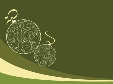 vector background with Christmas ball Stock Vector - 4053469